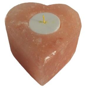 Salt Candle Holder - Med Heart