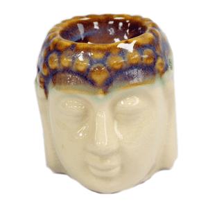 Buddha Oil Burner - Ivory & Mint