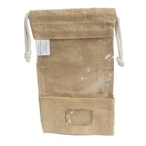 Lrg - Jute Window Bag 25x16cm & pocket