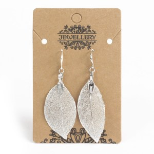 Earrings - Bravery Leaf - Silver