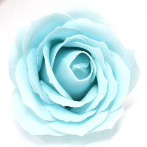 Craft Soap Flowers - Lrg Rose - Baby Blue