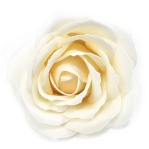 Craft Soap Flowers - Lrg Rose - Ivory
