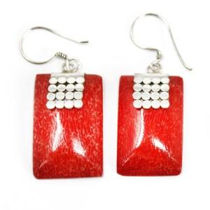 Coral Style Silver Earrings - SQ Mini Discs