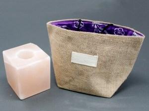 Natural Jute Cotton Gift Bag - Lavender Lining - Large