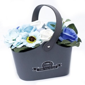 Bouquet Petite Basket - Soothing Blues