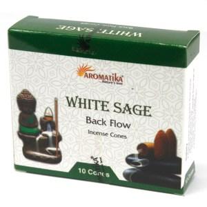 Aromatica Backflow Incense Cones - White Sage