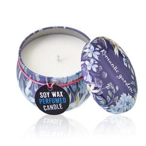 Art Tin Candle - Assorted Design - Romantic Garden - Tea & Rose