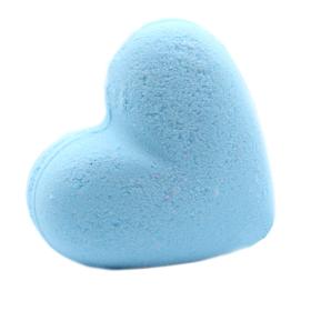 Love Heart Bath Bomb 70g - Baby Powder