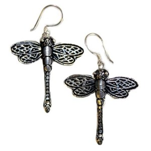 Silver Earrings - Dragonflies