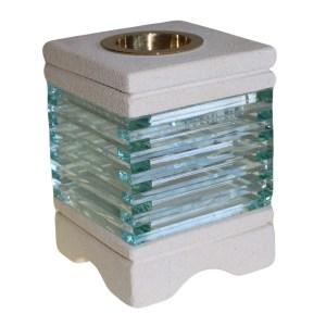 Stone Oil Burner - Square Glass Brick