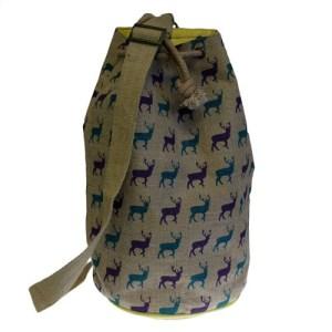 Jute Duffle - Stag Bag