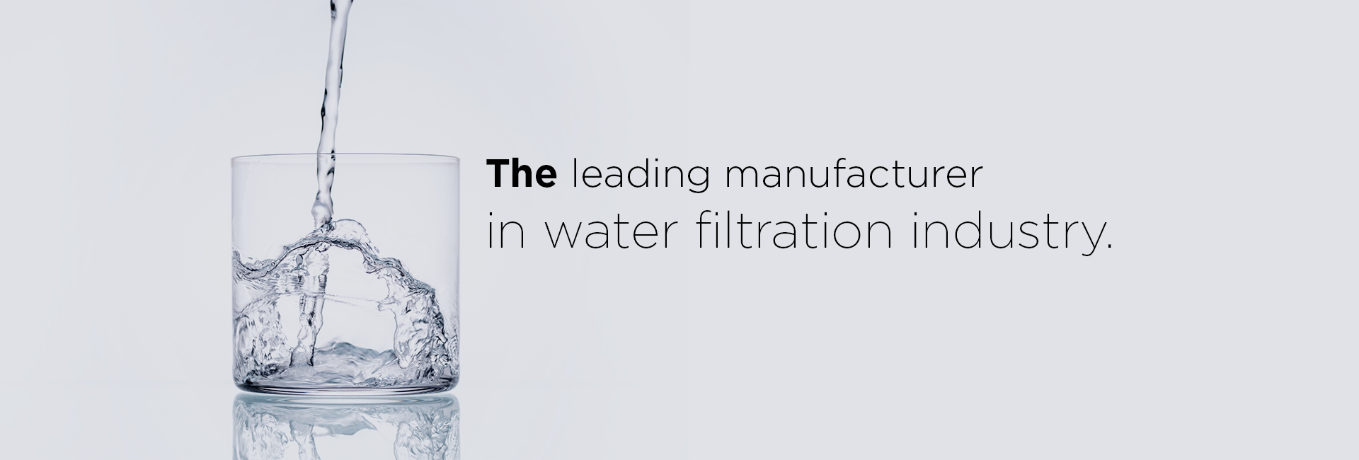 leading manufactuer of water filters