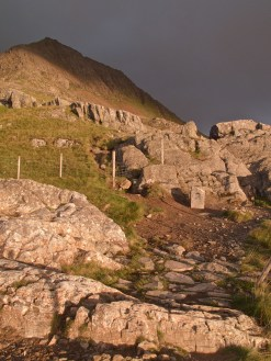 At this point you can take the track or brave the scramble up to Crib Goch