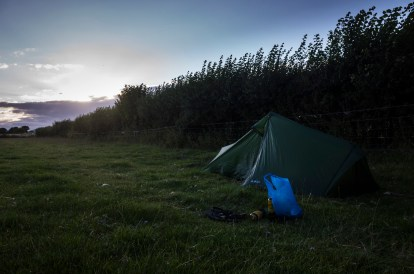 The night before reaching Cheddar. Great little hidden spot and a glorious sunset.