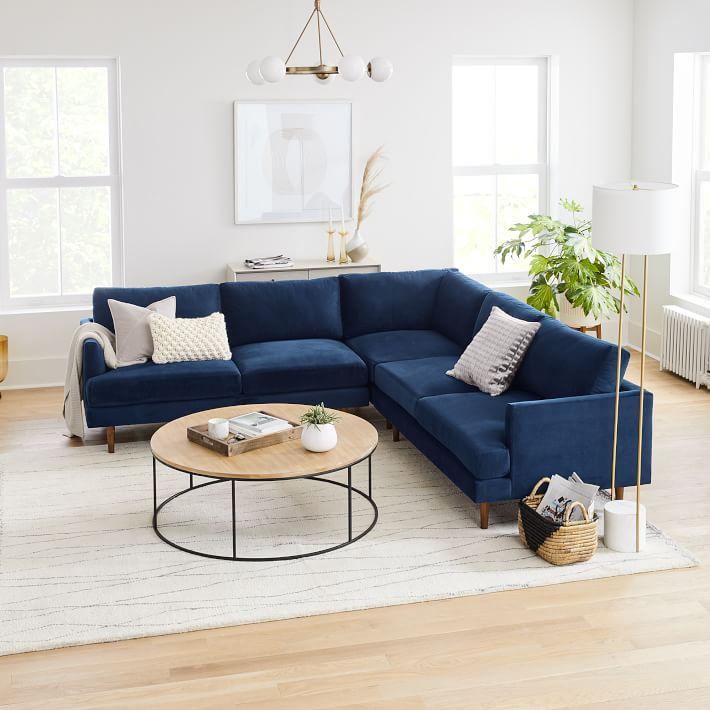33 navy blue velvet sectional sofas to
