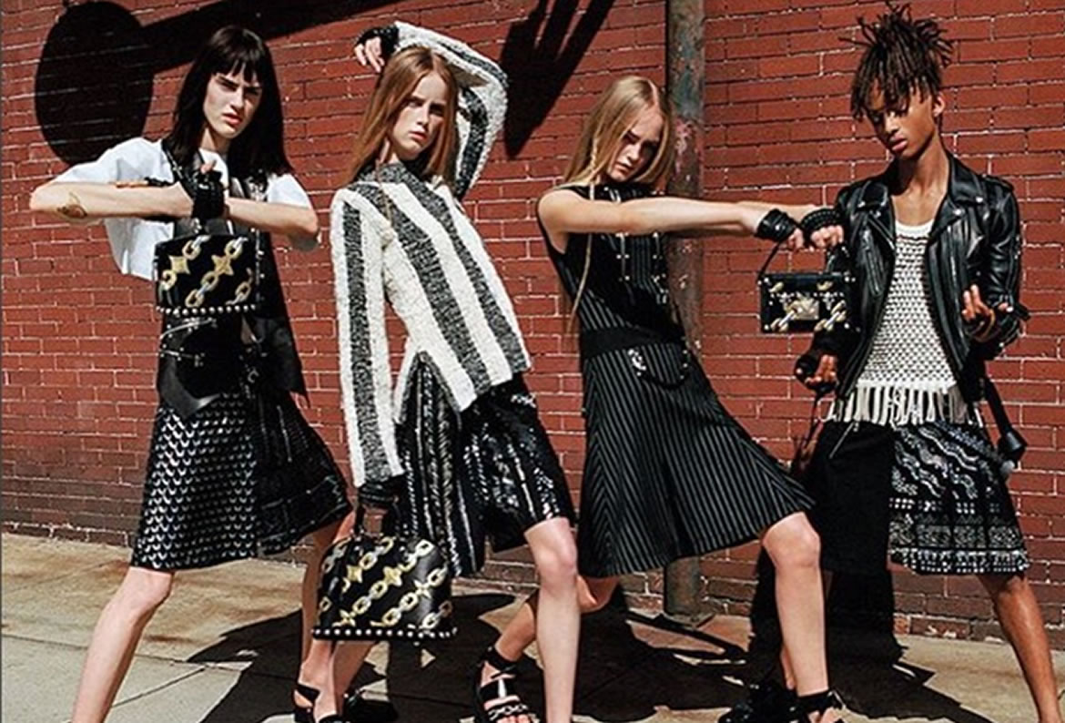 Jaden Smith Wears A Skirt For Louis Vuitton SS16 Womenswear Campaign
