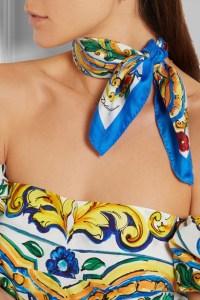 Dolce & Gabbana Silk-Twill Scarf