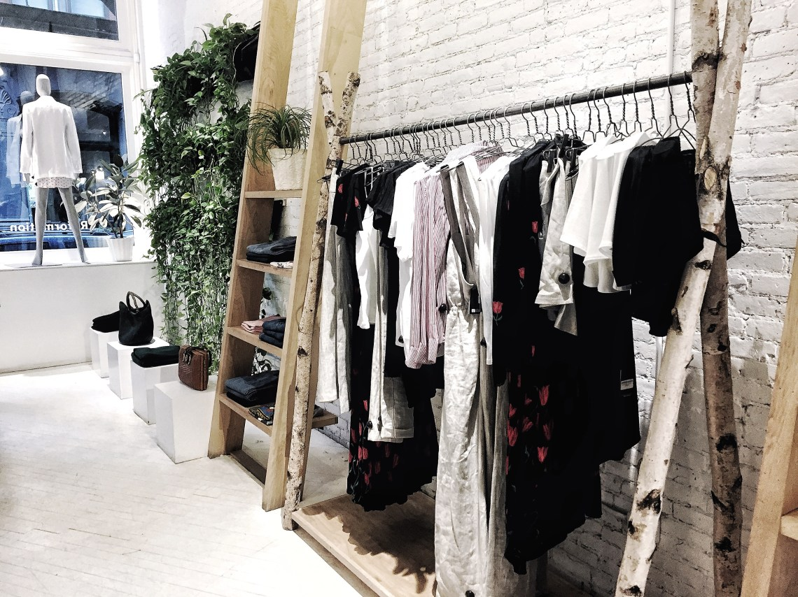 Sustainable Fashion | Reformation store | Pursuit of Daydreams