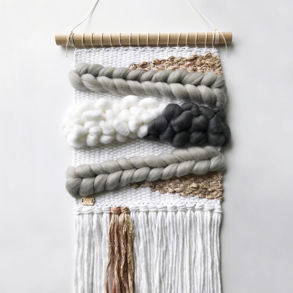 Medium Neutral Woven Wall Hanging