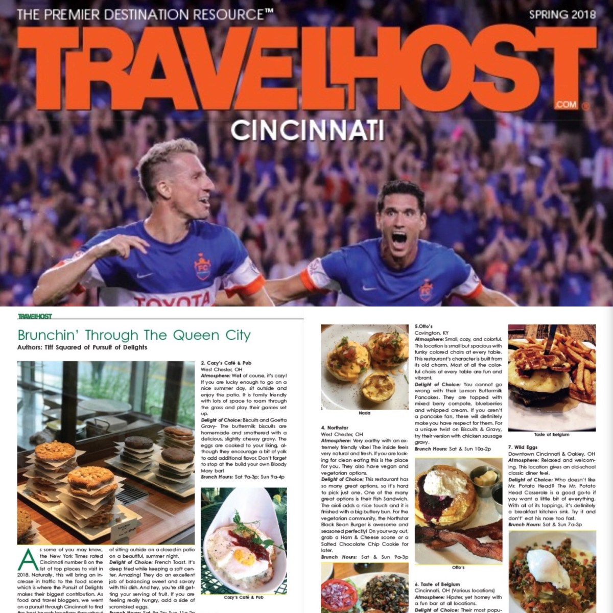 Brunchin' Through the Queen City- Our Feature in Travel Host Magazine!