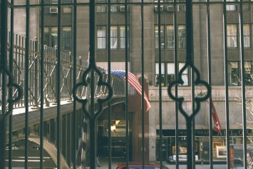 Y Yoga Movie prod. still World Trade Center Flag 6 months later