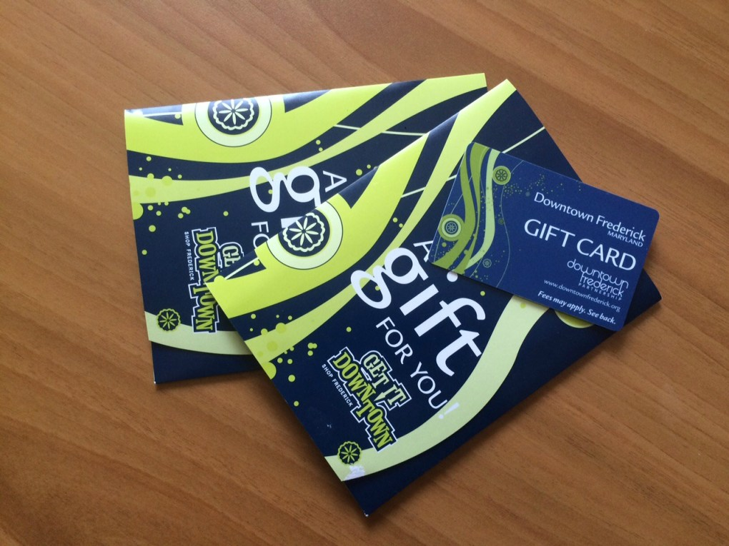 We're giving away a Downtown Frederick Gift Card on May 28, 2015!