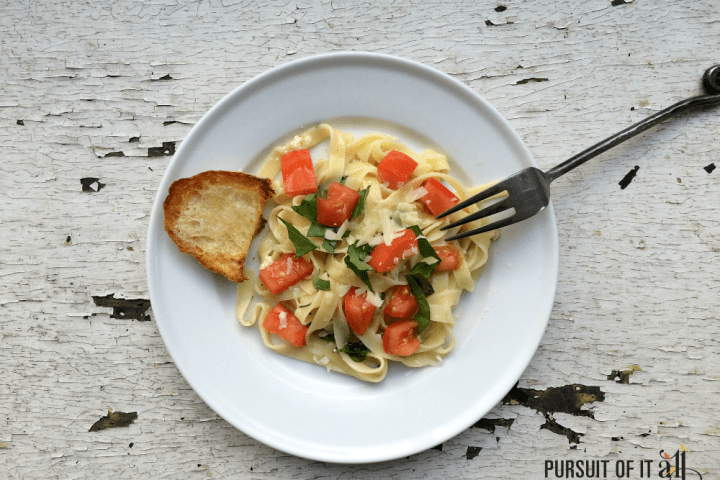 Basil Tomato Fettuccine: A Super Easy Weeknight Meal!