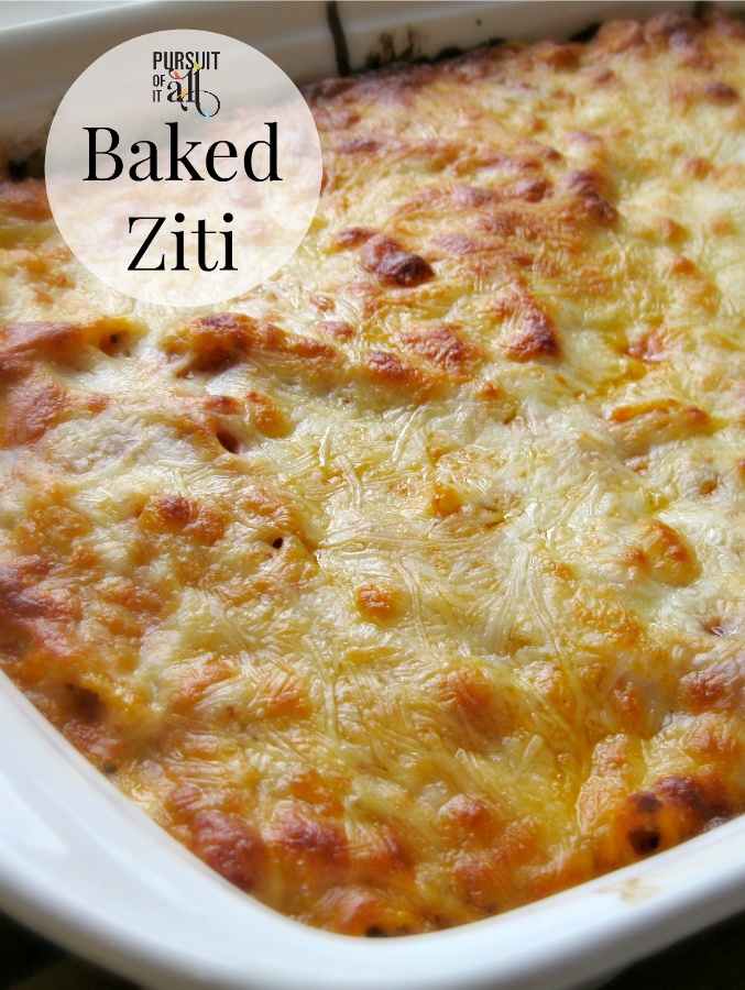 Baked Ziti - a simple and tasty recipe to have in your arsenal!