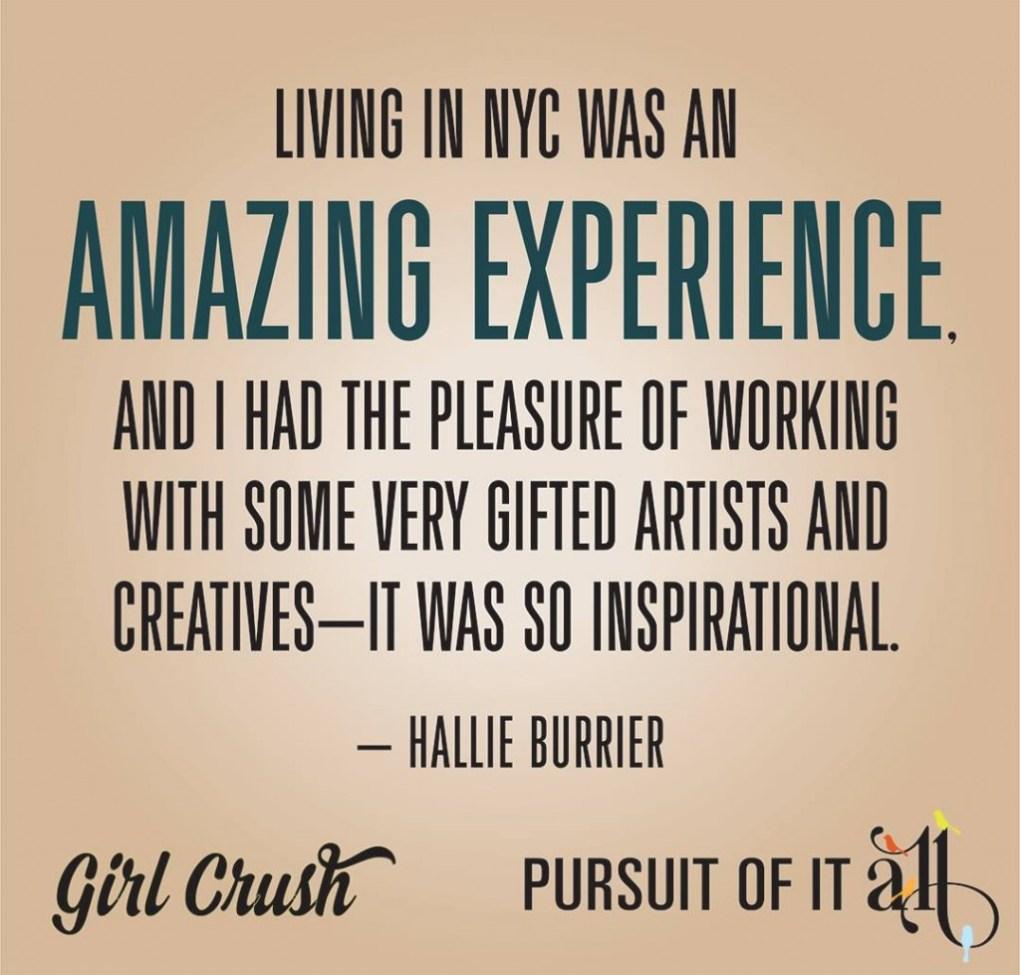 Girl Crush: Hallie Burrier from Frederick, Md.
