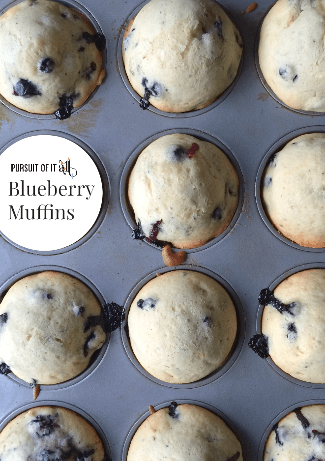 These blueberry muffins are simple to make (full of tart and yummy blueberries), and wonderful to enjoy as a quick breakfast or an after-school snack. Yum!