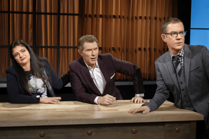 "Judges on the Food Network show ""Chopped."""