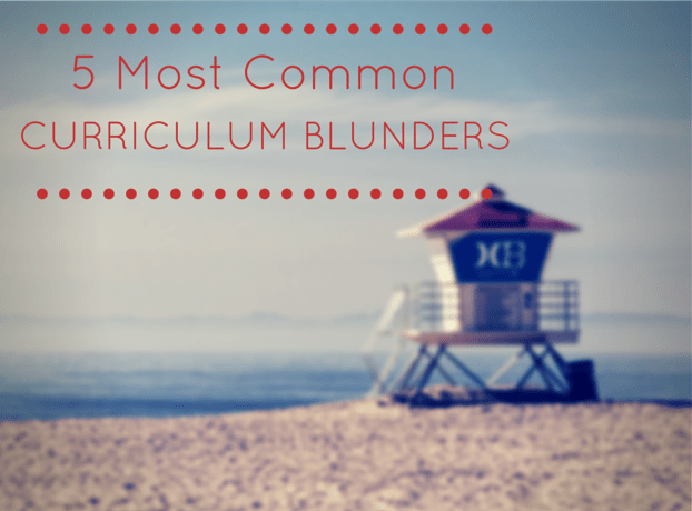 The 5 Most Common Curriculum Blunders Homeschool Moms Make