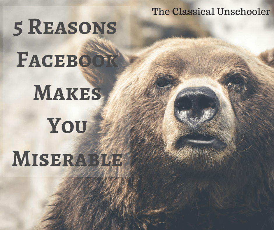 5 Reasons Facebook Makes You Miserable