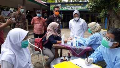 Bupati Purbalingga Dyah Hayuning Pratiwi bersama Forkopimda melakukan pemantauan pospam perbatasan dan lokasi wisata.