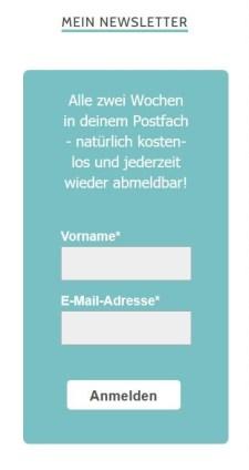 Newsletter Formular