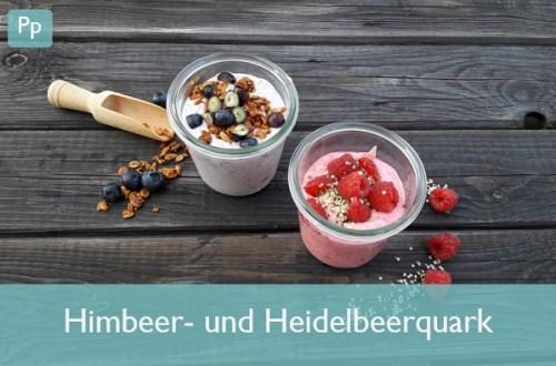 Himbeer- und Heidelbeerquark