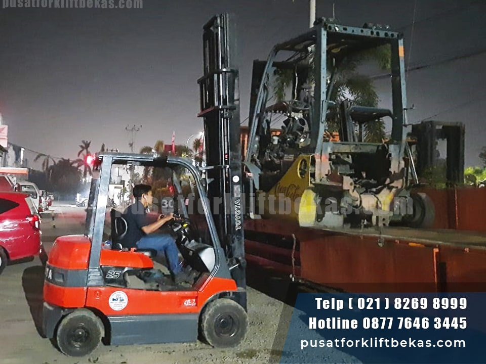 Toyota Forklift Battery 7FB25 samping