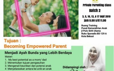 Private Parenting Class Batch-2; 3 September 2019, YPKA