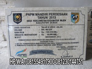 Prasasti PNPM , Prasasti Marmer