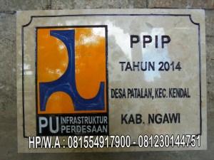 Prasasti PPIP , Jual Prasasti Marmer