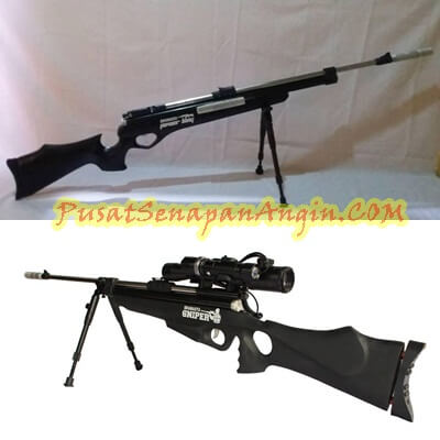 Jual Senapan Angin Bramasta Black Sniper Extra Long Power