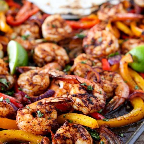 Shrimp Fajitas (Sheet Pan)