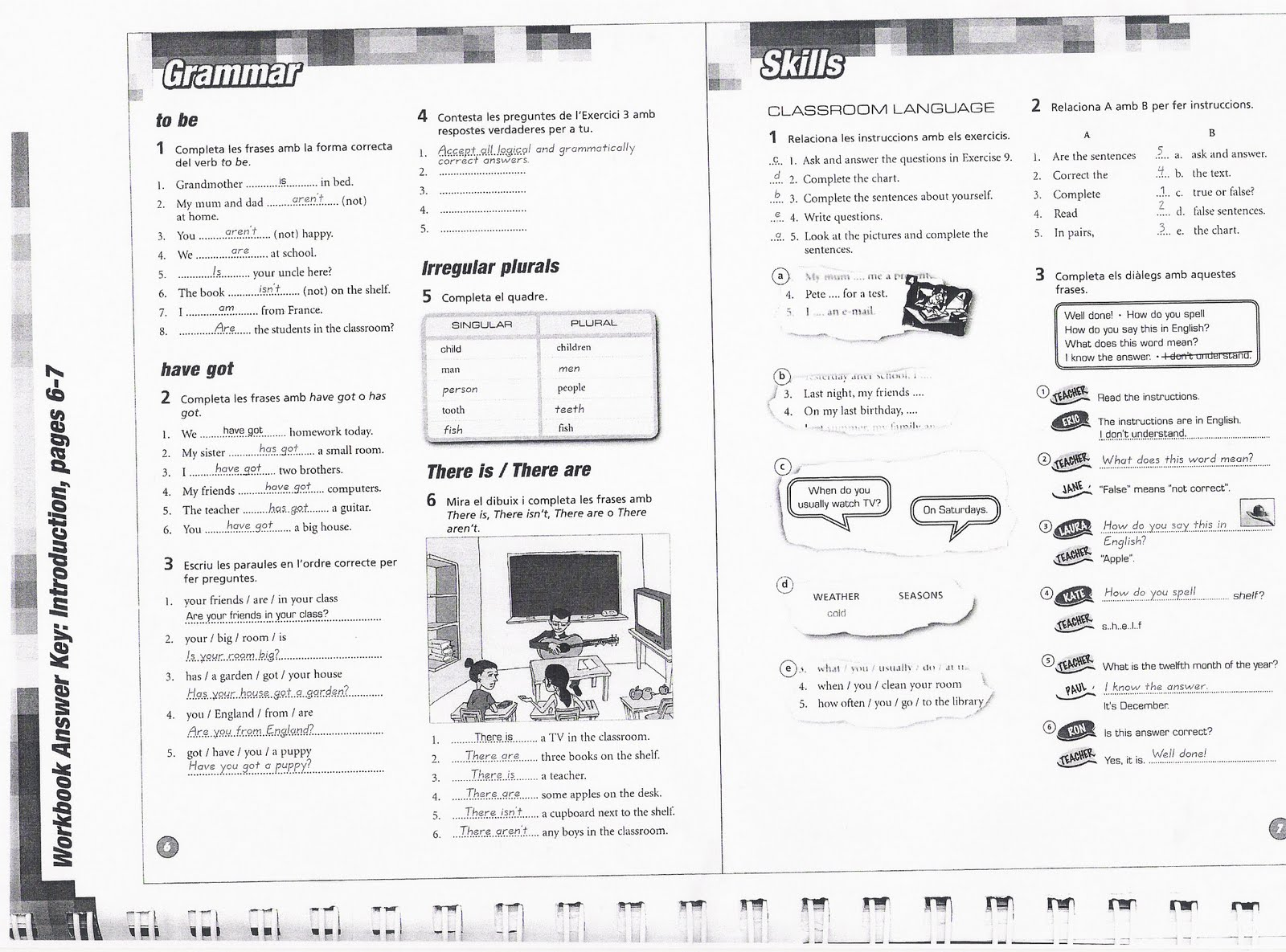 2nd Eso A Students Answers For Workbook Pages And Some Links With Exercises Pushingenglish Blog