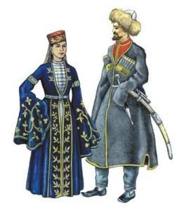 Черкесы национальный костюм