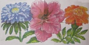 Мозаика из цветов