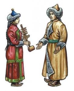 Тувинцы национальный костюм
