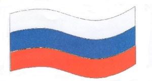 Вырежи из Приложения полоски и расположи их так, чтобы получился флаг Российской Федерации. Проверь себя по учебнику. После проверки наклей полоски.