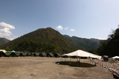 The camp site at Shivpuri