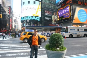 Myself in front of NASDAQ