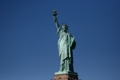 The world famous Statue of Liberty